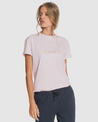 Roxy Womens Epic Afternoon Organic T Shirt T-Shirts & Singlets PINK MIST