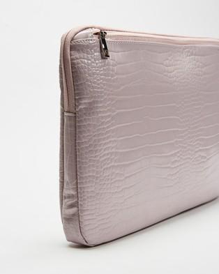 PETA AND JAIN Meli Croc Laptop Case - Tech Accessories (Lilac Croc)