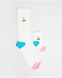 Happy Socks - 2-Pack Mini Me Cherry Gift Box