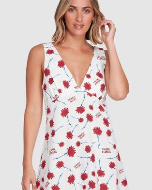 RVCA Talking Flowers Dress - Dresses (WHITE)