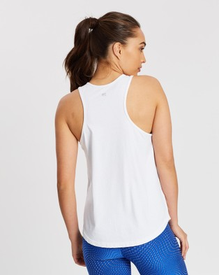 AVE Activewoman PET Dry High Neck Tank Top - Muscle Tops (White)