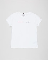 Tommy Hilfiger - Essential Roll Up Short Sleeve Tee - Teens
