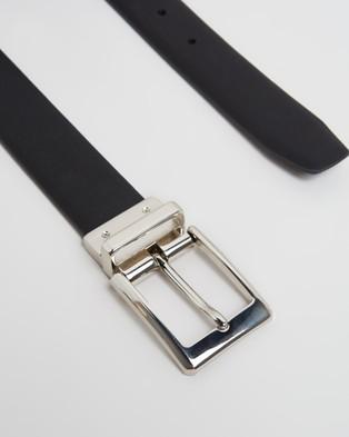 Geoffrey Beene Textured Reversible Belt - Belts (Brown & Black)