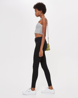 TOPSHOP Leigh Jeans - Jeans (Black)