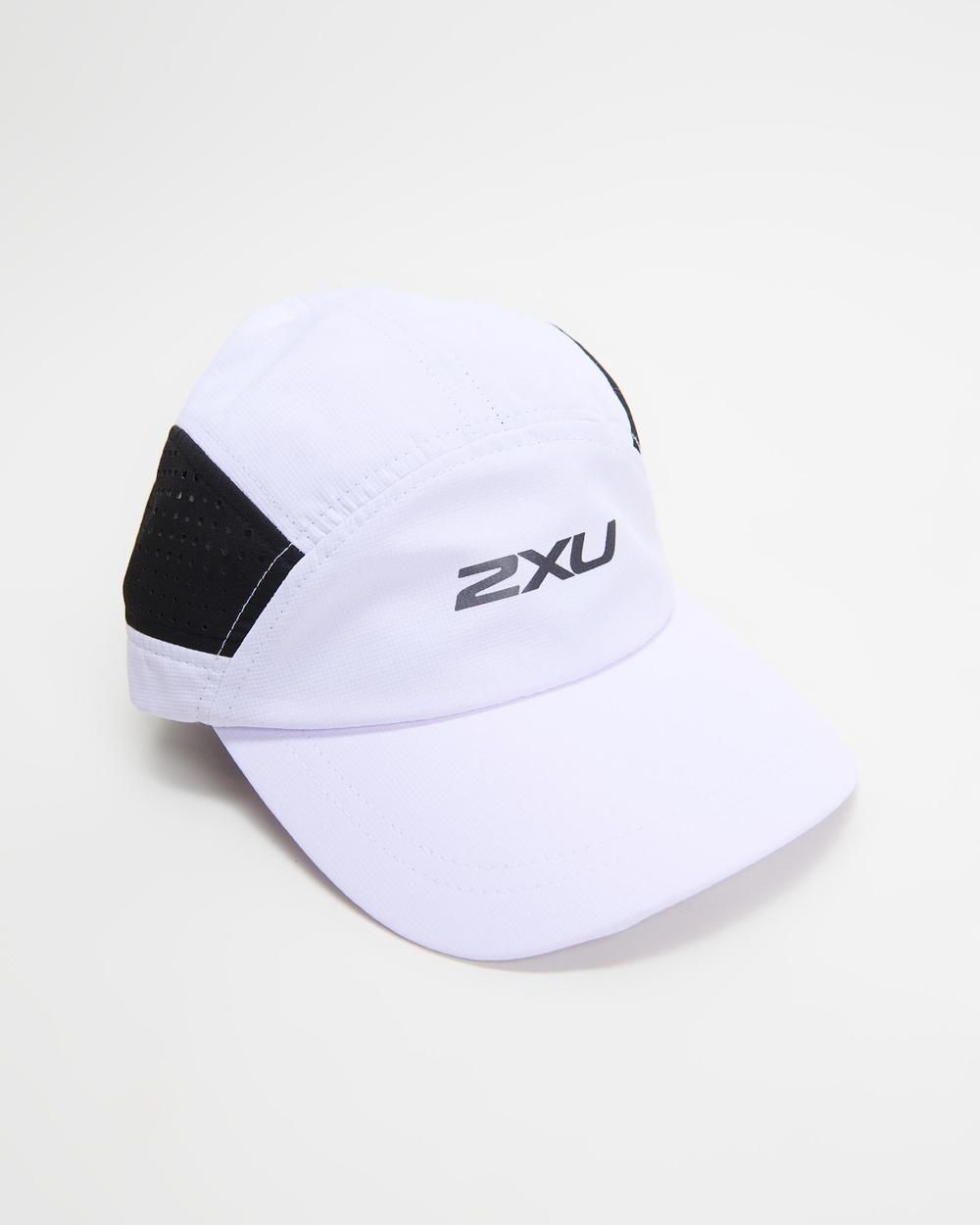2XU Light Speed Cap Headwear White & Black