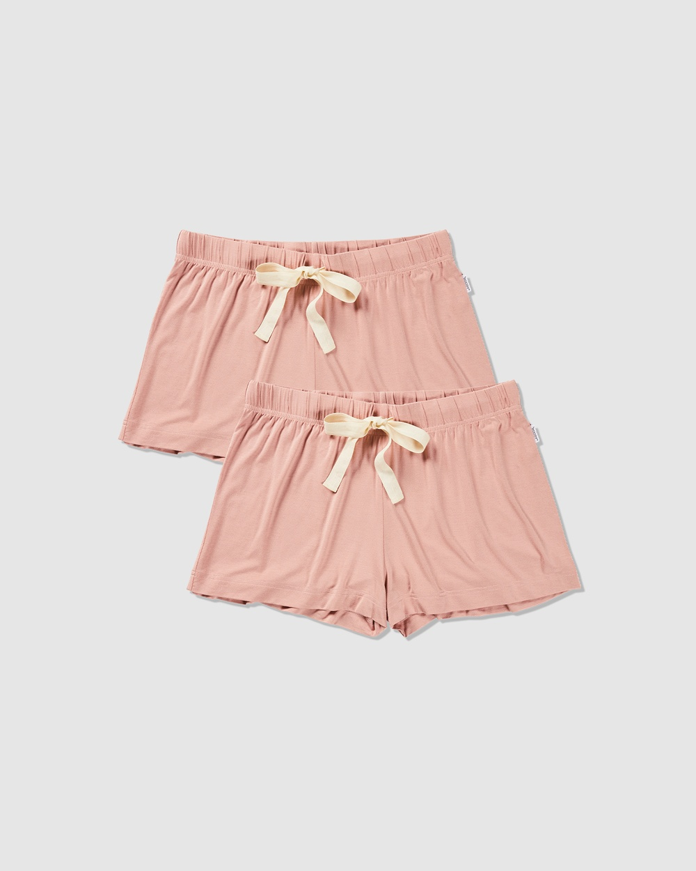 2 Pack Goodnight Sleep Shorts  Dusty Pink - Sleepwear