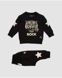 Rock Your Baby - Mic Drop Tracksuit Set - Babies