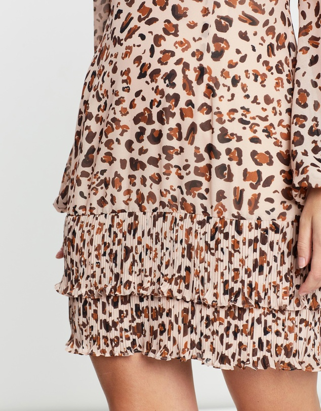 Cooper St - Animal Instinct Long Sleeve Mini Dress