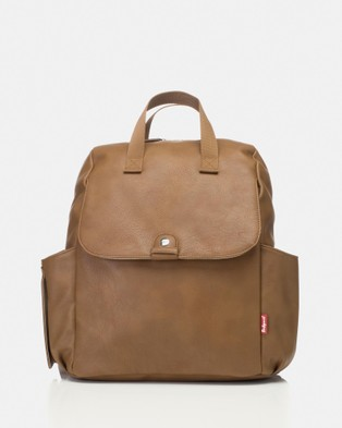 Babymel - Robyn Faux Leather Convertible Backpack Nappy Bag - Bags (Tan) Robyn Faux Leather Convertible Backpack Nappy Bag