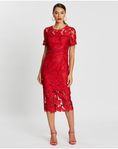 Mossman - The Scarlet Letter Midi Dress