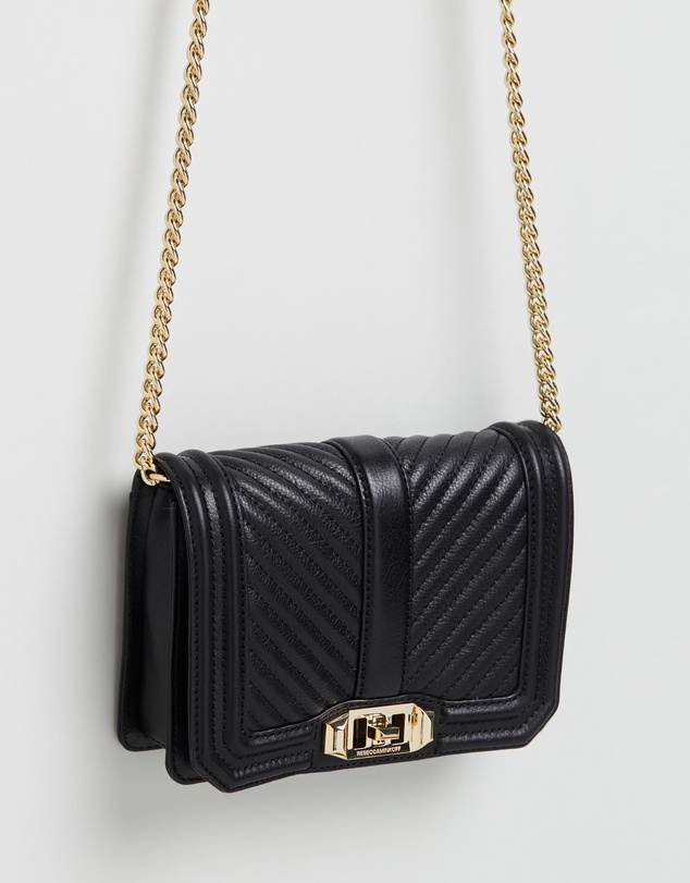 Rebecca Minkoff - Chevron Quilted Small Love Cross-Body Bag