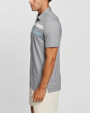 TravisMathew Postcard Home Golf Polo Shirt - Shirts & Polos (Heather Quiet Shade)