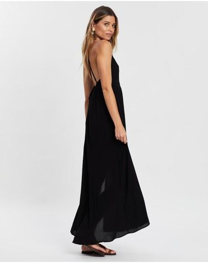 Atmos&here Marley Cross Front Slip Dress Black