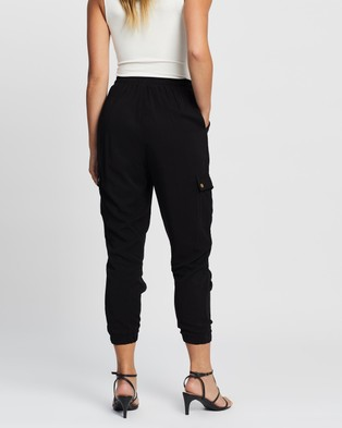 Atmos&Here Autumn Tencel Relaxed Joggers - Pants (Black)