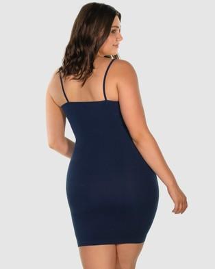 B Free Intimate Apparel Curvy Bamboo Slip Sleepwear Blue