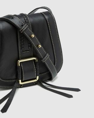 Oxford Isabeau Leather Saddle Bag - Handbags (Black)