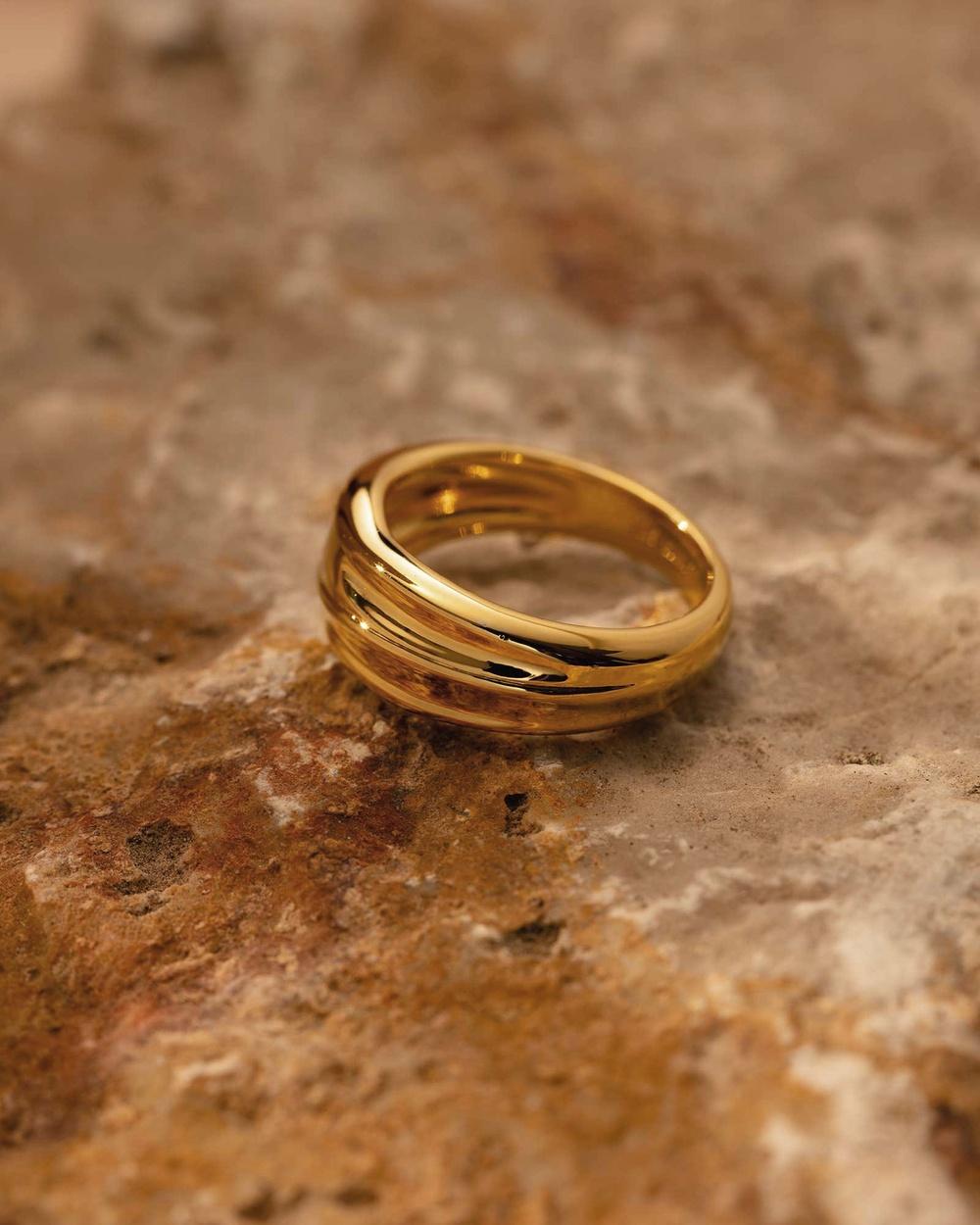 Kirstin Ash Molten Ring Jewellery Gold
