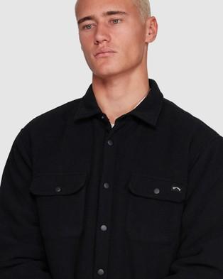 Billabong Nevermind Long Sleeve Flannel Shirt - Shirts & Polos (BLACK)