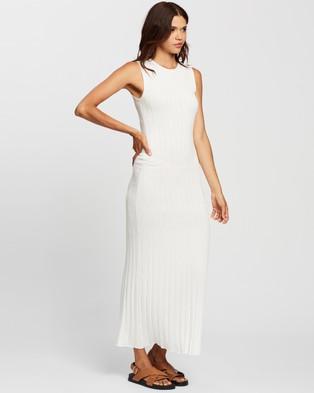 AERE Sunray Pleat Dress - Bodycon Dresses (Ivory)