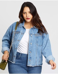 Missguided - Raw Hem Oversized Denim Jacket