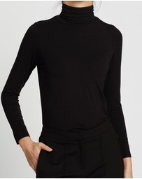 David Lawrence - Bamboo Jersey Roll Neck