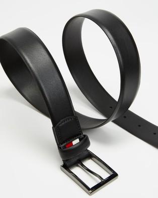 Tommy Hilfiger Formal Leather Belt 3.5cm - Belts (Black)