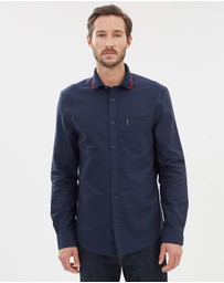Ben Sherman - Knitted Collar LS Oxford Shirt