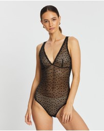 Calvin Klein - Flocked Hearts V-Day Bodysuit