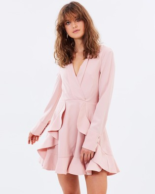 C/MEO COLLECTIVE – Ultralight LS Dress Dusty Pink
