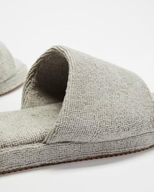 Staple Superior Ibiza Terry Towelling Slides - Sandals (Grey)