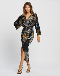 Camilla - Long Split Front Twist Dress