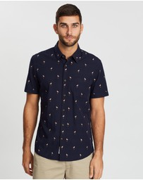 Sportscraft - Short Sleeve Tapered Flamingo Shirt