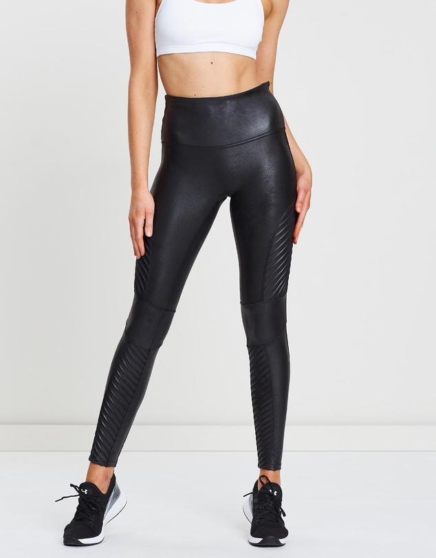 cheap sale bright in luster so cheap Faux Leather Moto Leggings