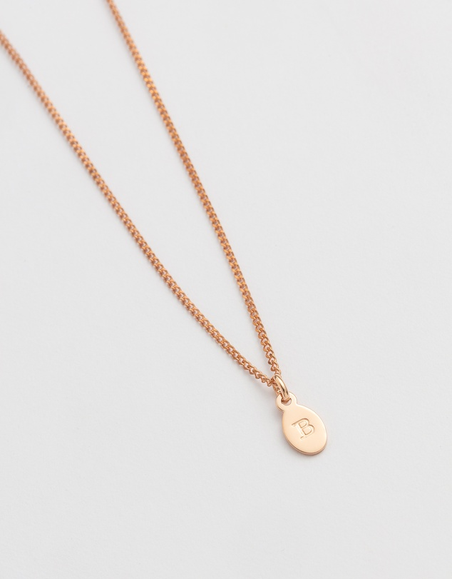 Women Initial B Necklace