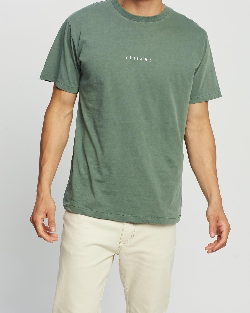 Thrills Minimal Merch Fit Tee T-Shirts & Singlets Lume Green Australia
