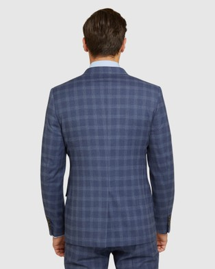 Oxford Auden Eco Checked Suit Set - Suits & Blazers (Blue)