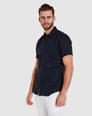 Coast Clothing Short Sleeve Linen Shirt - Casual shirts (Navy)