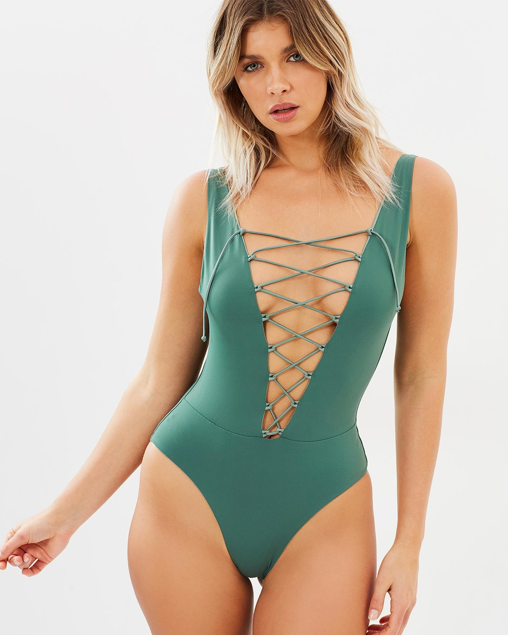 Bond-Eye Swimwear Quiver Reversible One Piece One-Piece / Swimsuit Malachite Quiver Reversible One-Piece