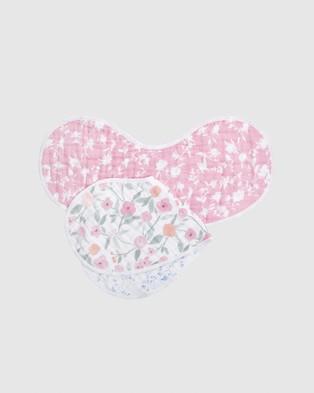 Aden & Anais 2 Pack Burpy Bibs - Bibs (Mon Fleur)