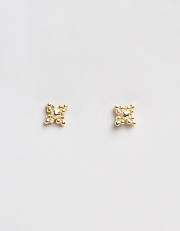 Women Blessed Gold Stud Earrings