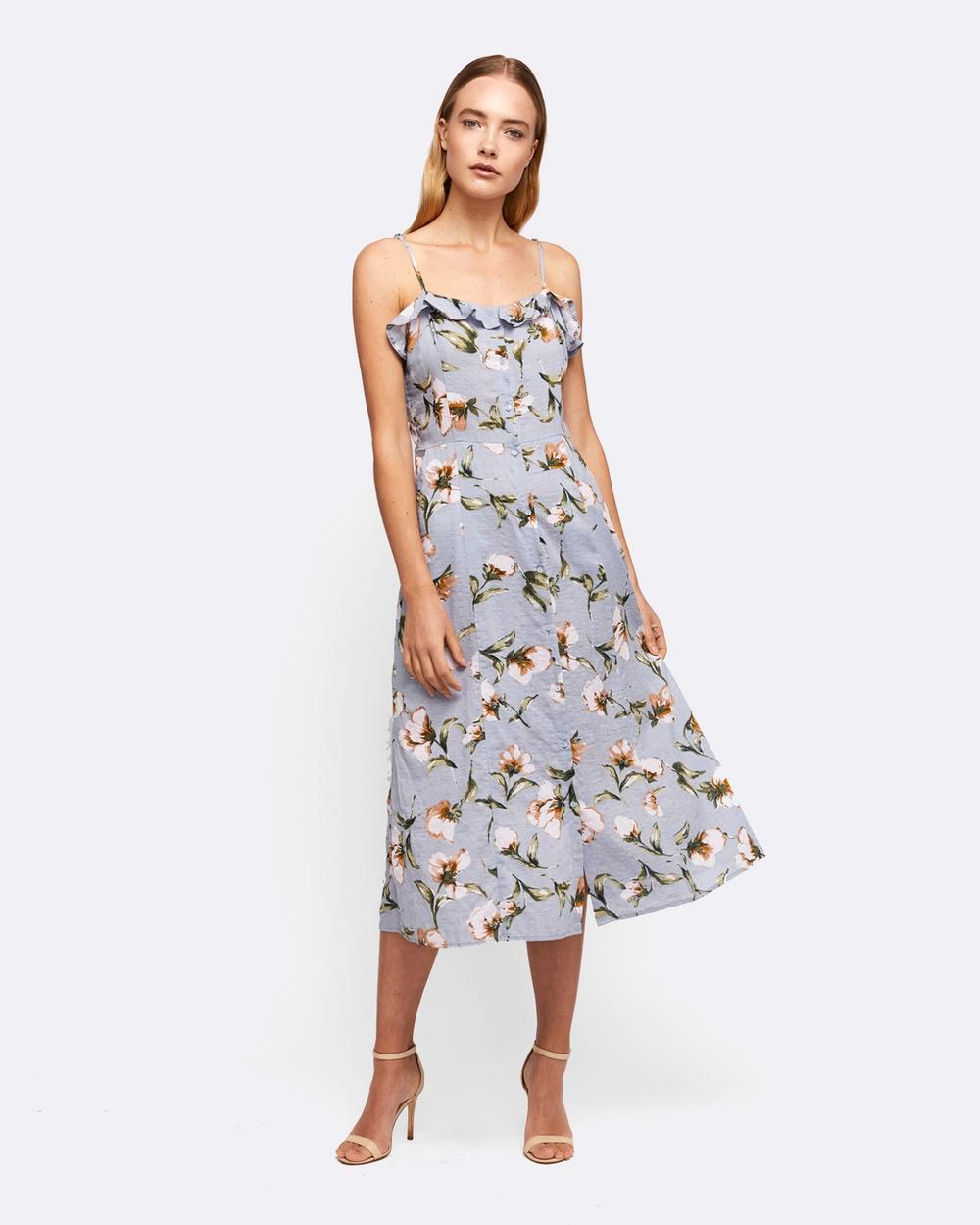 MVN Finding Neverland Dress Printed Dresses Blue Finding Neverland Dress