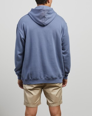 Stussy Text Hoodie - Hoodies (Dusty Blue)