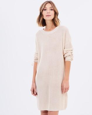 MINKPINK – Lace Up Knit Dress – Dresses (Oatmeal)