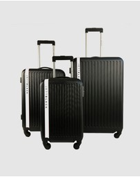 JETT BLACK - Jetsetter White Series Luggage Set
