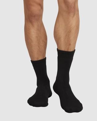Boody Organic Bamboo Eco Wear 4 Pack Work Boot Socks Underwear & Black