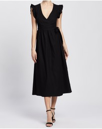 Atmos&Here - Laurelle Linen Blend Midi Dress