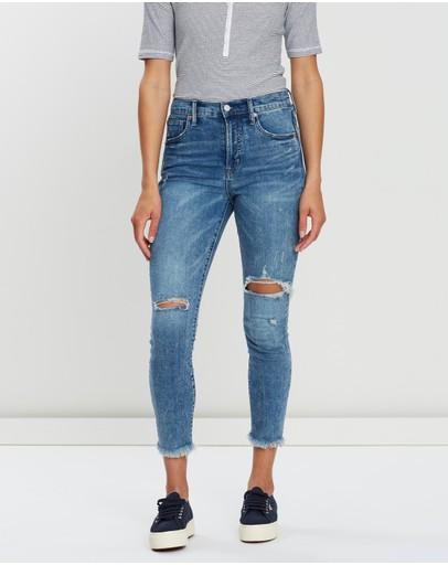 Gap True Skinny High-rise Jeans Tinted Medium Destroy