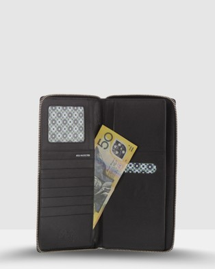 Cobb & Co Claude RFID Travel Wallet - Travel and Luggage (BLACK)