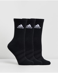 adidas Performance - 3-Pack Cushioned Crew Socks - Unisex