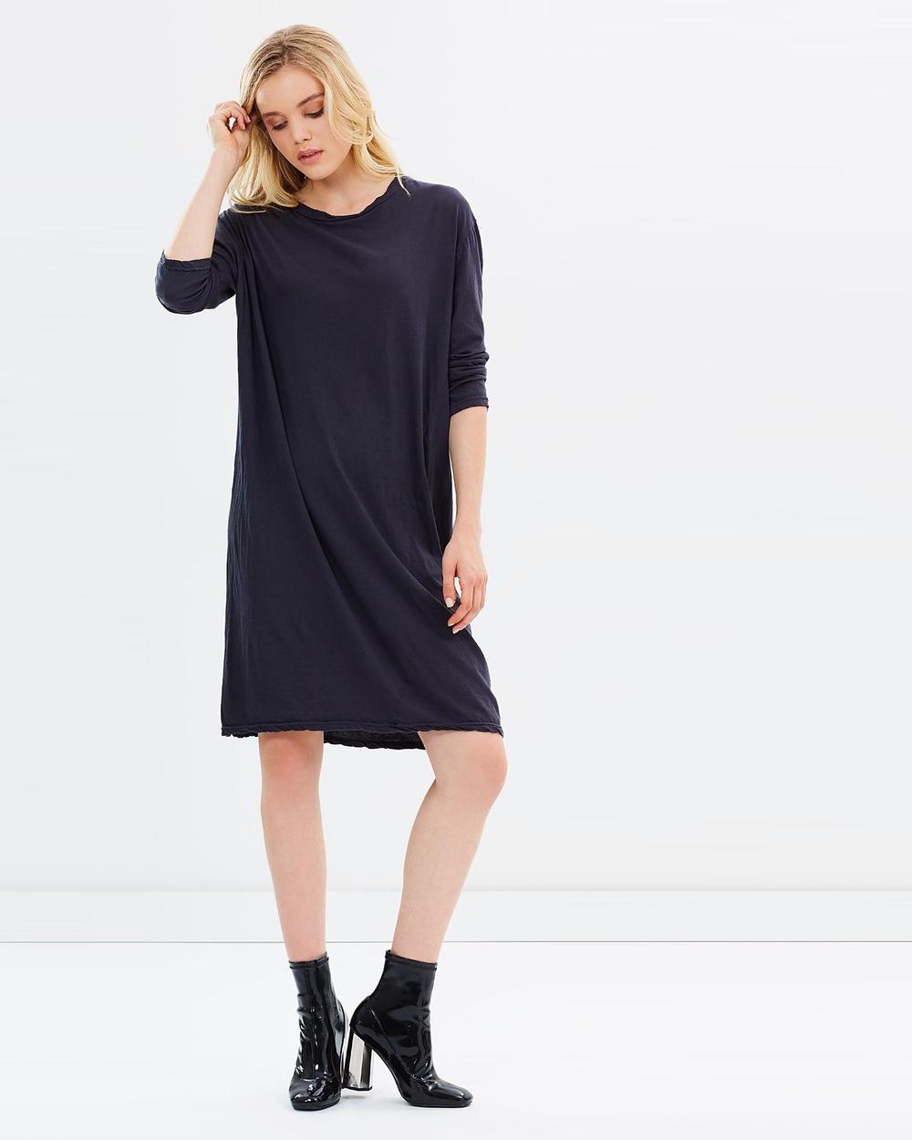 Primness Hap LS Dress Dresses Smoked Charcoal Hap LS Dress